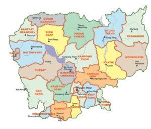 Provinces in Cambodia