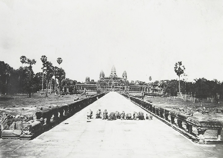 Angkor Wat around 1920 - 1930 - historic picture