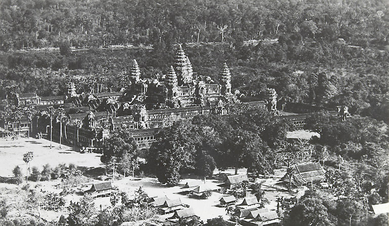 Angkor Wat around 1920 to 1930 - historic picture