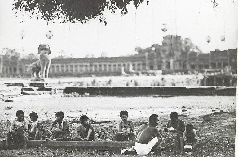 Locals at Angkor Wat - Picture taken between 1919 and 1926