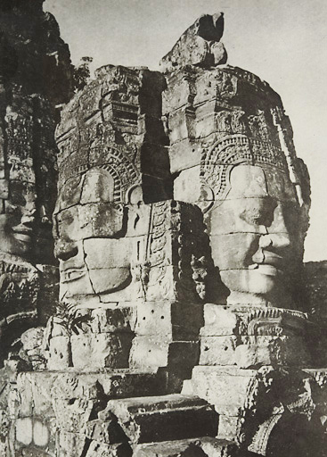 Historic picture of Bayon temple