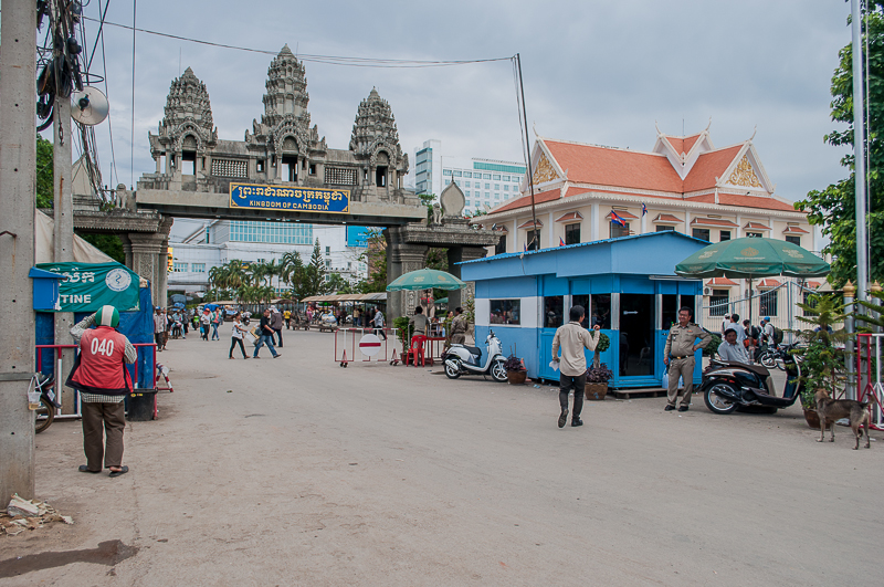 Cambodian border crossing in Poipet