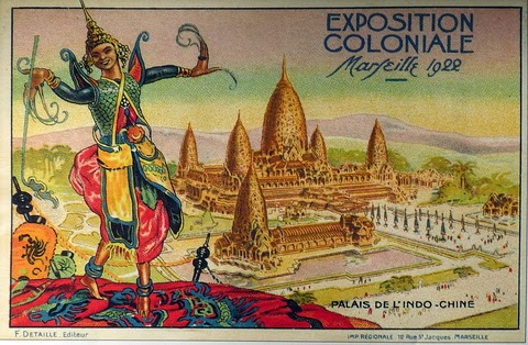 Angkor Wat on 1922 Colonial Expo in Marseille