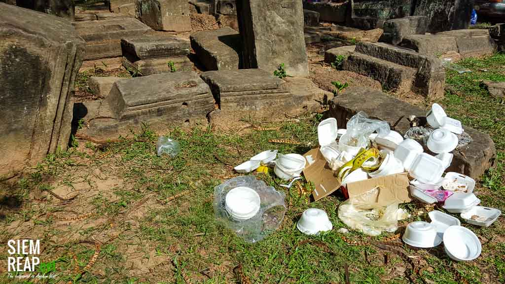 Waste disposal at Angkor Wat