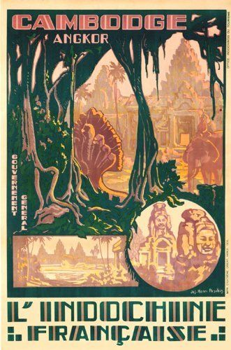 L'Indochine Francaise vintage travel poster