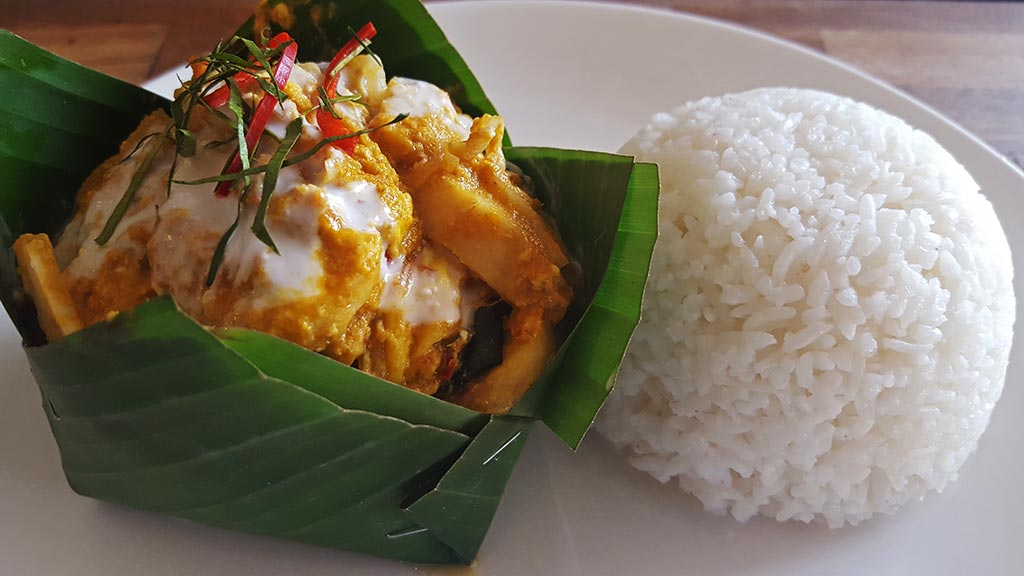 Amok fish, a traditional Cambodian dish