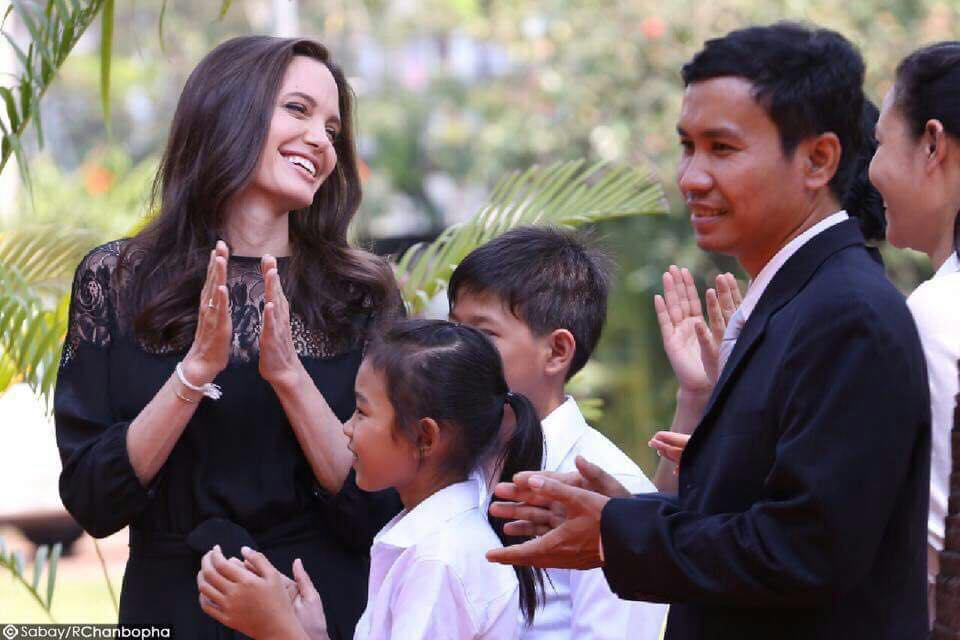 Angelina Jolie at First They Killed My Father press conference