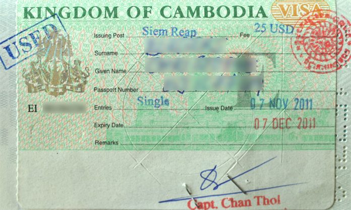 Cambodia Entry Visa