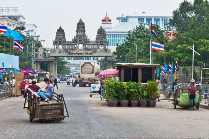 When traveling overland from Bangkok, you will enter Cambodia through the Poipet border crossing