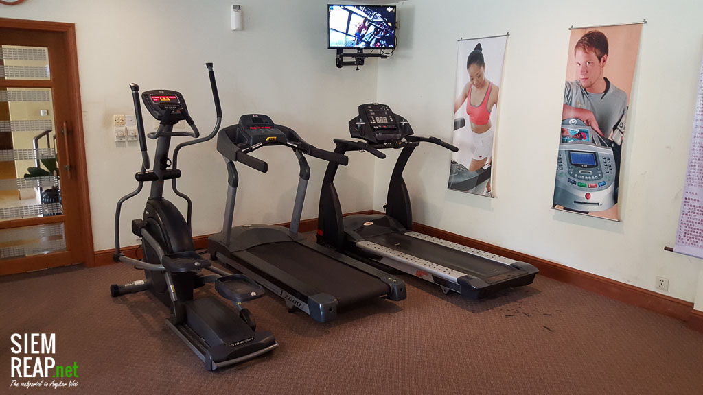 Century Hotel's gym is small but has all the essentials
