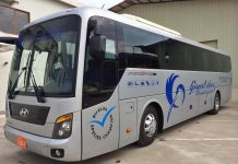 Overland travel between Phnom Penh and Siem Reap by Giant Ibis Bus