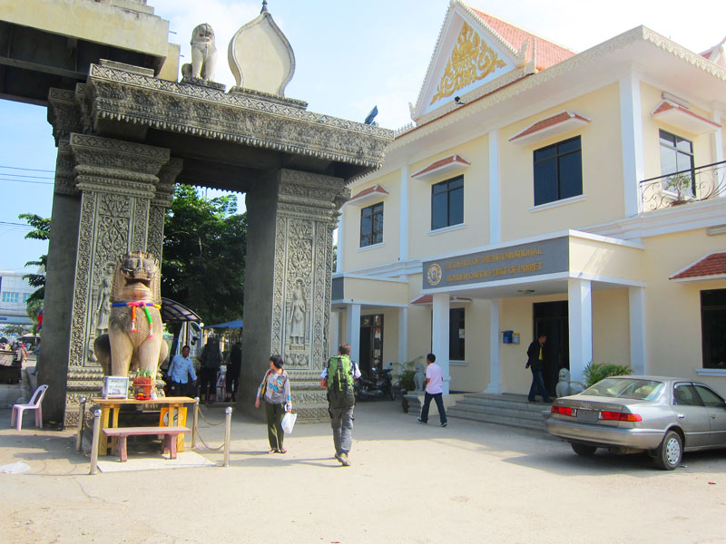 The real cambodia visa office in Poipet