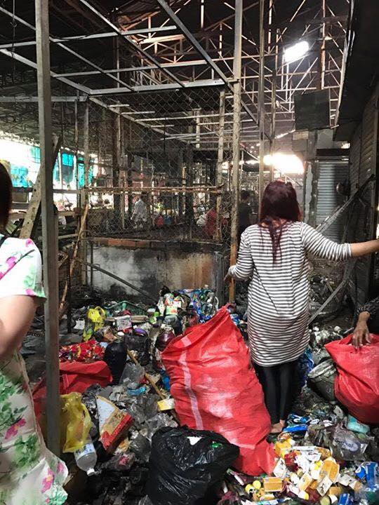 Siem Reap Wat Polanka Market Fire Aftermath