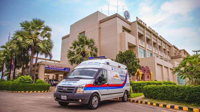 The Royal Angkor International Hospital offers ambulance and emergency services.