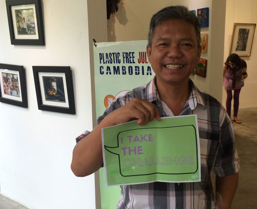 Plastic Free July Challenge in Cambodia