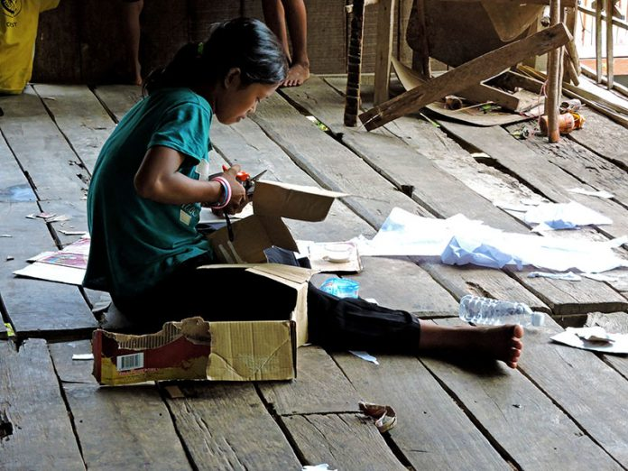 education is sparse in Siem Reap's Plung Village