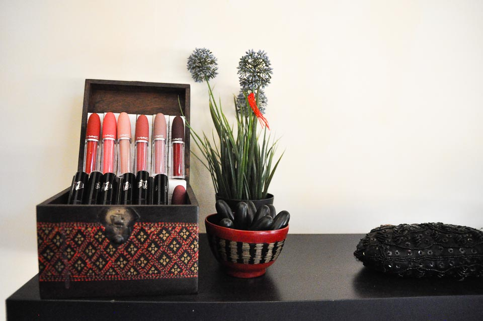 Beauty and makeup accessories at Frockaholics, Siem-Reap, Cambodia
