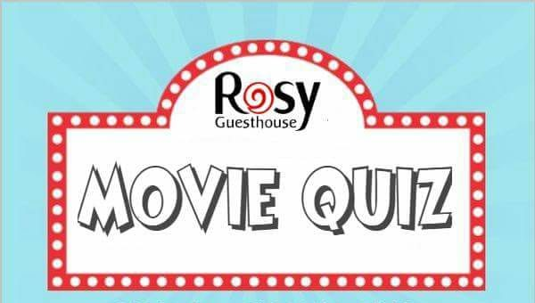 Rosy Guesthouse Movie Quiz in aid of RSVP