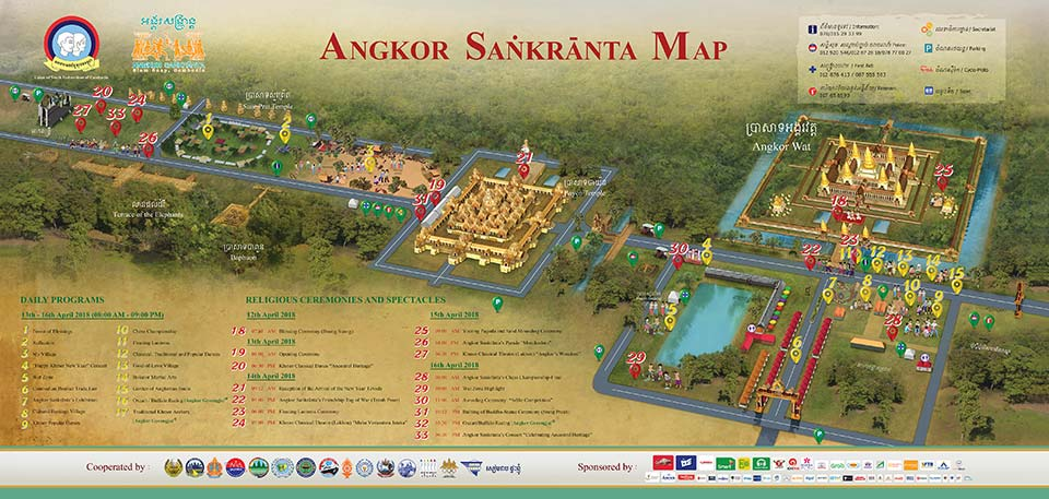 Angkor Sangkrata 2018 Map and Timetable - Low Resolution