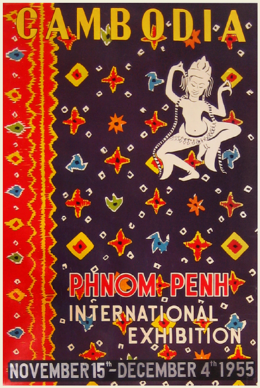 Vintage poster - Phnom Penh International Exhibition 1955