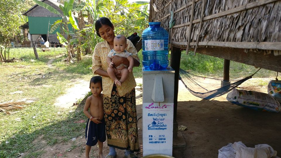 Water For Cambodia uses biosand filters to provide clean water.