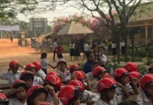 Helmets for Kids Handover Ceremony at Phum O Primary School